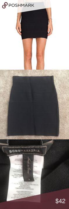 BCBG MAXAZRIA bandage skirt Block bandage skirt. In perfect condition. Goes with everything!! BCBGMaxAzria Skirts Mini