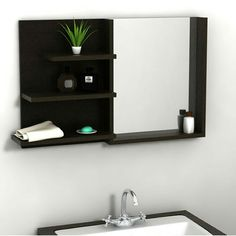Decor, Shelf Unit, Floating Shelves, Shelves, Bathroom Shelf Unit, Home Decor, Bathroom Shelves, Mirror, Bathroom
