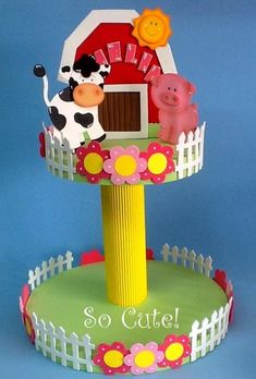 Granja Farm Birthday, Animal Birthday, 1st Birthday Parties, Barnyard Party, Farm Party, Baby Animal Nursery, Crafts For Kids, Arts And Crafts, Farm Theme