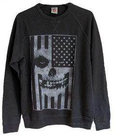 8ed605fbfa45e The Misfits Flag Crew Neck Fleece Pullover. Rock T ShirtsSkull ...
