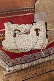 ručně háčkovaná taška z příze Anya