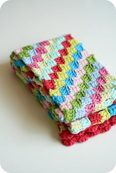 Diagonal crochet stitch...