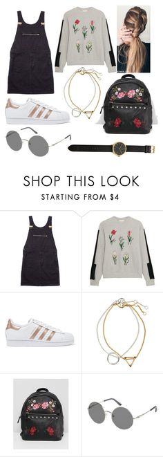 """""""Sans titre #288"""" by smileandance ❤ liked on Polyvore featuring Margaret Howell, Steve J & Yoni P, adidas Originals, H&M, Stradivarius, Roxy and Tsovet"""