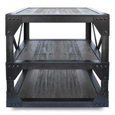 Dutch Industrial End Table - Coffee, Sofa & Side Tables - Family Room