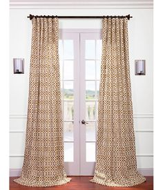 "Half Price Drapery Nairobi Desert Printed Cotton Curtain $119/panel for 96""L"