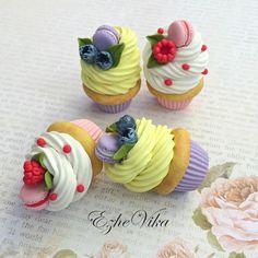 «Капкейки будут украшать чайные ложки. #полимернаяглина #вкусныеложки #сладкиеложки #ручнаяработа #ezhevika_lyu #handmade #polimerclay #липецк…»
