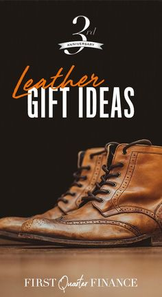 Celebrate your third year of marriage with our leather anniversary gift ideas for him. Let your husband or boyfriend know you care with a traditional leather themed anniversary present. From boots to a set of luggage, we've got gifts ranging from the pra
