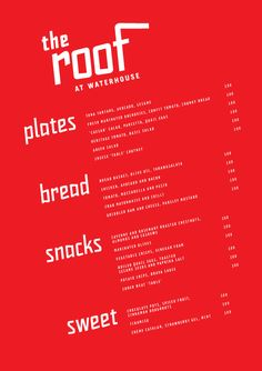 love the simplicity of this menu design. By Foreign Policy Design Group via Art of the Menu