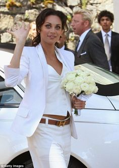 Wedding Pant Suits for Women sleevless   What's your consensus on the wedding suit trend for women? Discuss!