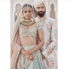 Indian floral pastel bride