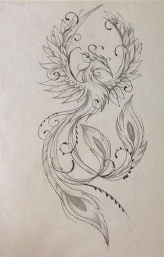 Result for images for Feminine Phoenix Tattoo Designs diy tattoo images - tattoo images drawings - t Phoenix Tattoo Feminine, Phoenix Tattoo Design, Design Tattoo, Mandala Tattoo Design, Tattoo Design Drawings, Tattoo Phoenix, Feminine Back Tattoos, Phoenix Design, Neue Tattoos