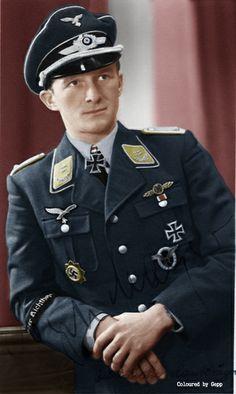 ✠ Egon Mayer (19 August 1917 – 2 March 1944) Shot down by P-47 Thunderbolt escort fighters near Montmédy, France. RK 01.08.1941 Leutnant Flugzeugführer i. d. III./JG 2 + 16.04.1943 [232. EL] Hauptmann Kdr III./JG 2 + 02.03.1944 [51. Sw] Oberstleutnant Kommodore JG 2