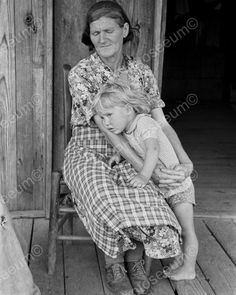 Grandmother Watching Child Vintage 8x10 Reprint Of Old Photo