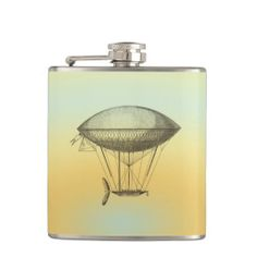 Liquid Courage™ stainless steel flask for a fun and hip on-the-go accessory. Hot Air Balloon, Flask, Special Events, Unique Gifts, Balloons, Ceiling Lights, Christmas Ornaments, Prints, Vintage