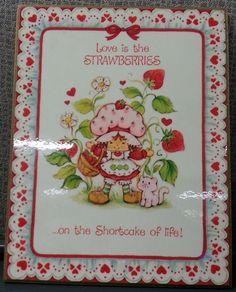 "1982 Strawberry Shortcake American Greetings 8"" X 6""  Artwork"
