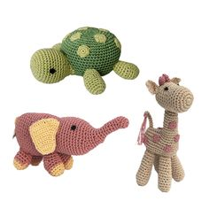 These precious Knit Toys are all lovingly hand-crocheted using interlaced cotton threads. Both flexible and durable, these adorable toys come with a built-in squeaker to entice your pooch to play! Perfect for puppies and toy dogs.
