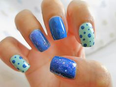 Pa Nail Color Premier AA120 (Jelly blue glitter) Swatch | chichicho~ nail art addicts