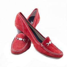 Zapatos de ante en rojo de Yanko. Talla 36. Low lux en lujocheap.com