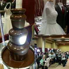 Choco fountain, dress and crowd Hits 106 2017 Bridal Expo