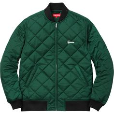Supreme Sequin Patch Quilted Bomber ❤ liked on Polyvore featuring outerwear, jackets, bomber jacket, patch jacket, green quilted jacket, sequin jacket and green bomber jacket
