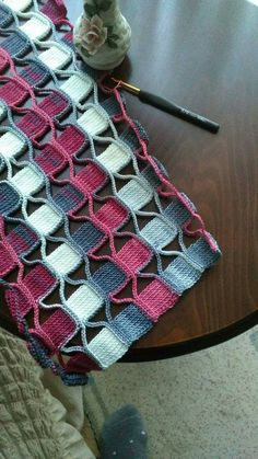 Crochet Decoration – Crochet cable baby sweater How to Crochet: Textured Wave Stitch Crochet Cable, Tunisian Crochet, Crochet Motif, Crochet Shawl, Free Crochet, Crochet Granny, Crochet Stitches Patterns, Stitch Patterns, Knitting Patterns