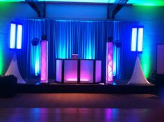 Here is another look at one of our many DJ set up options. The location was Adat Ari El in Valley Village, CA. Yes, we can transform ANY room into a PARTY room!
