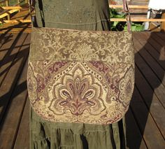 Renaissance Boho Hipppie Gypsy Messenger Purse tote bag