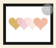 Four Layered Hearts  ColorOption1  INSTANT DOWNLOAD by mkatsafar, $3.00