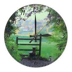 http://www.zazzle.com/cotlake_footpath_clock-256538793555526404?gl=Rosemariesw=238739306683447883  Cotlake Footpath Clock by Rosemariesw