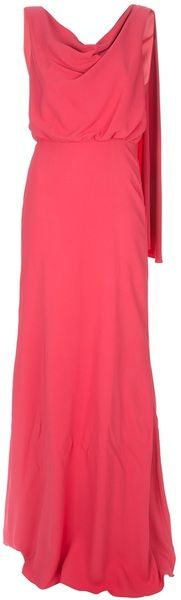 Valentino Long Drape Dress - Lyst