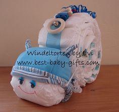 Windeltorten - Windelschnecke, die etwas andere Windeltorte! - ein Designerstück von Windeltorten-by-Evi bei DaWanda