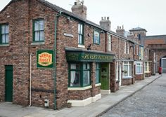 A stroll down Coronation Street: Studio tour features a chance to pull a pint at the Rovers Return Inn Coronation Street Set, Coronation Street Episodes, Tv Set Design, Hollyoaks, British Actors, Britain, Old Things, England, Street View