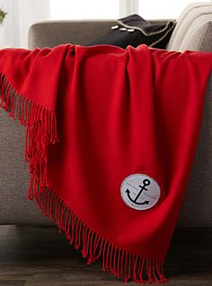 NAUTICAL PATCH THROW  130 X 150 CM | Simons #simonsmaison #nautical #countryclub…