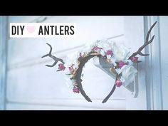 ▶ Last Minute Halloween Costume: Deer Antler DIY Floral Headband - YouTube