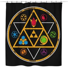 Symbols of Time - Shower Curtain