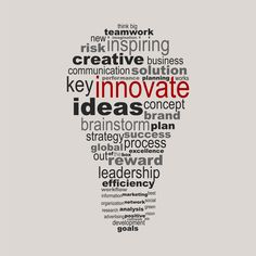 Innovate business concept made with words drawing a light bulb - easy colors change by selecting same fill color - stock vector Innovation Quotes, Innovation Strategy, Innovation Management, Innovation Centre, Best Business Ideas, Creative Business, Business Women, Word Drawings, Green Business