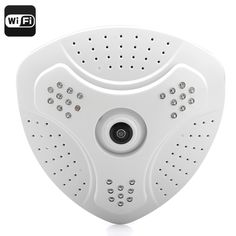 Full 360 Degree Fisheye Surveillance Camera - 1.3MP Resolution, WI-FI, SD-Card Recording, Mobile Phone Support