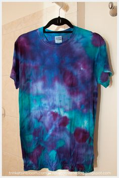 Snow and Ice Dyeing T-Shirt After dyeing
