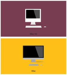 A evolução dos computadores Macintosh em ilustrações minimalistas