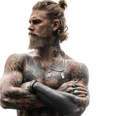 Mens Hairstyles With Beard, Bandana Hairstyles, Haircuts For Men, Hairstyle Men, Korean Hairstyles, Funky Hairstyles, Short Haircuts, Josh Mario John, Beard Styles For Men