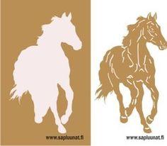 www.sapluunat.fi Everyday Items, Stencil, Moose Art, Horses, Animals, Design, Animales, Animaux, Animais
