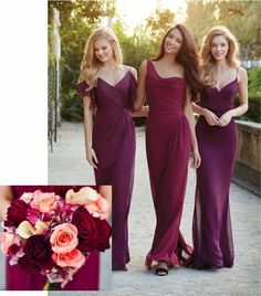 Color Splash: Marsala 'Maids Bridesmaids dresses from StarDust Celebrations and LuLu's Bridal | Dallas Bridal Salon