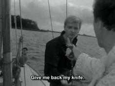 Knife in the Water Trailer 1962 - by Roman Polanski  https://www.youtube.com/watch?v=LaBa2Wj3gHk  https://mubi.com/films/knife-in-the-water