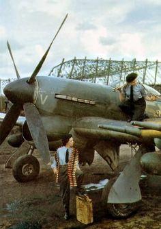 Vintage Planes life-is-aviation - Ww2 Aircraft, Fighter Aircraft, Military Aircraft, Fighter Jets, Luftwaffe, Hawker Tempest, Hawker Typhoon, Photo Avion, Hawker Hurricane