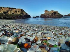 Glass Beach, Fort Bragg, CA - (our place to go and recharge over a long weekend 5-6 times a year. Love Fort Bragg. LT)