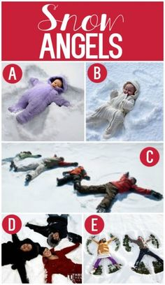 Holiday Photo Inspiration - snow angels or SAND angels
