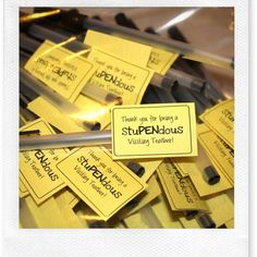 Noisy Pancakes: stuPENdous visiting teacher thank you
