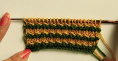 Free Knit Pattern - Simple Pearl Stitch   This is one of the simplest pattern I have done with multiple colors and the look is very neat to...