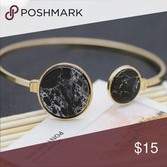 Pretty Bracelet (nwt) Very pretty bracelet, gold plated with faux marble bangle bracelet Jewelry Bracelets