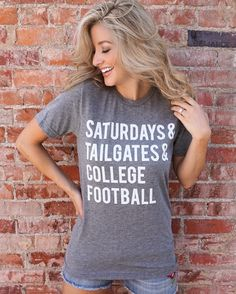Football – Saturdays & College Football – Gray Tee